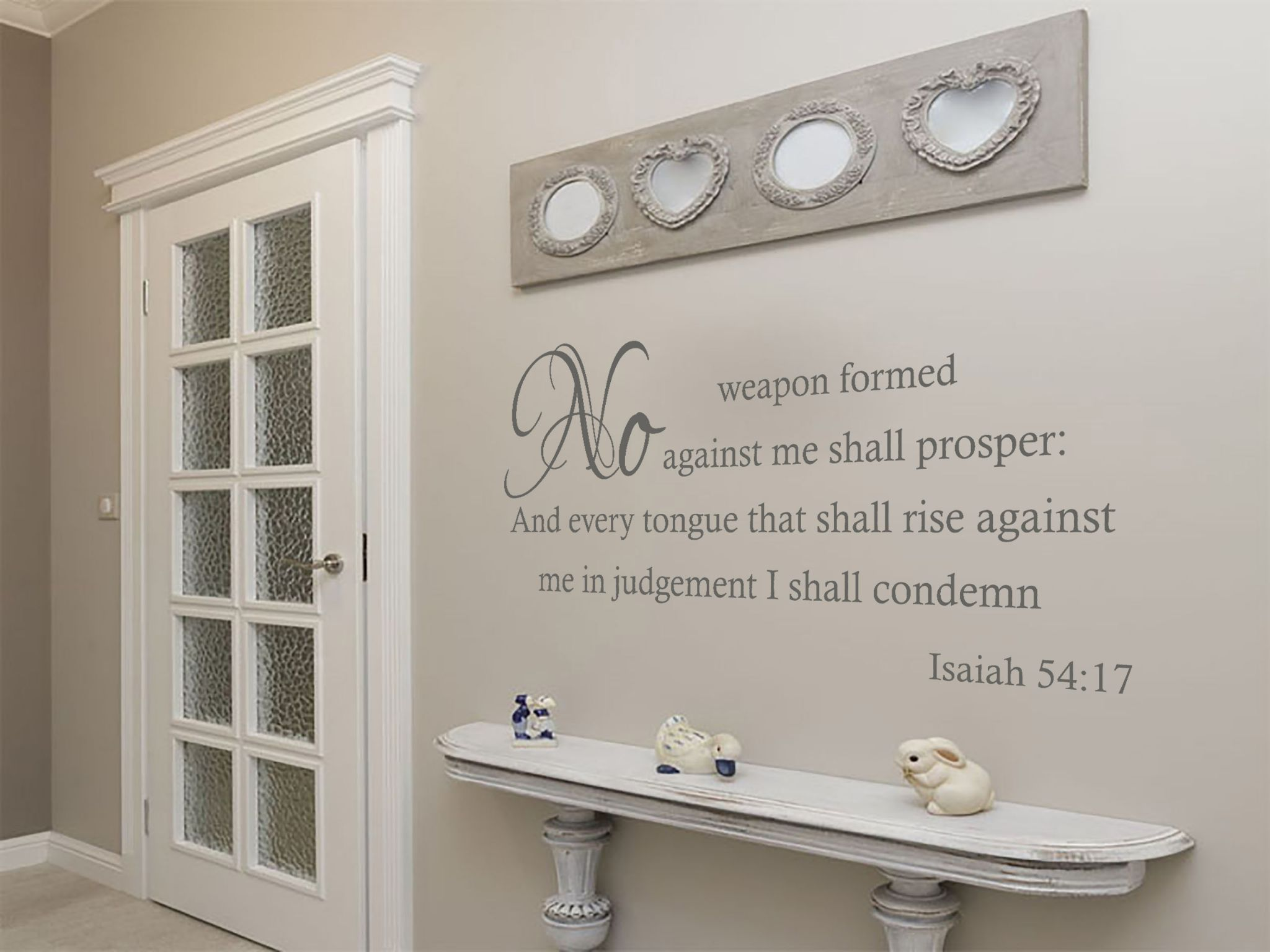 Religious Wall Art Quote, Vinyl Transfer, ...